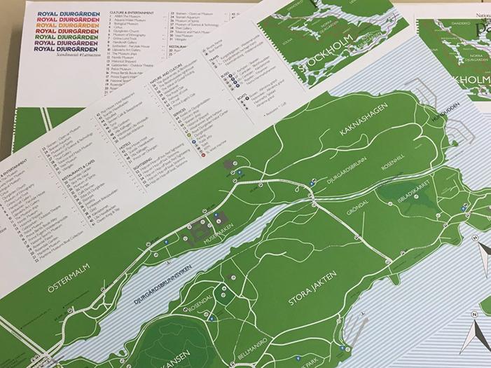 Karta över Royal Djurgården